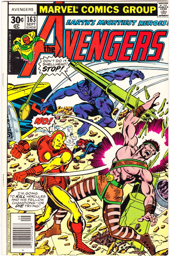 Avengers 163 Comic Champions Vintage book. 1977 Marvel VFNM  946ea11f79b6