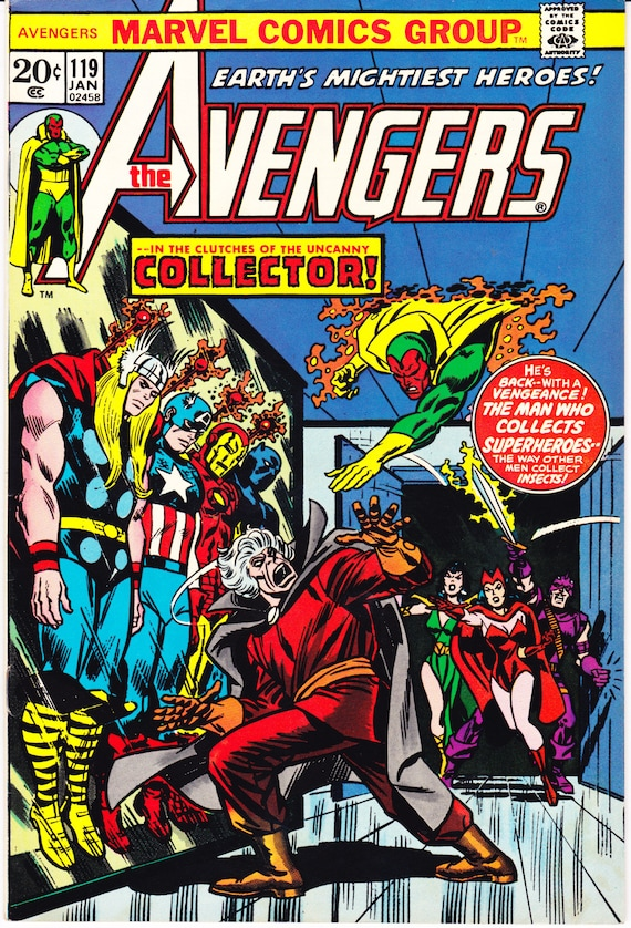 Avengers Vol 1 119 the Collector comics books. 1974  b35d401bf893