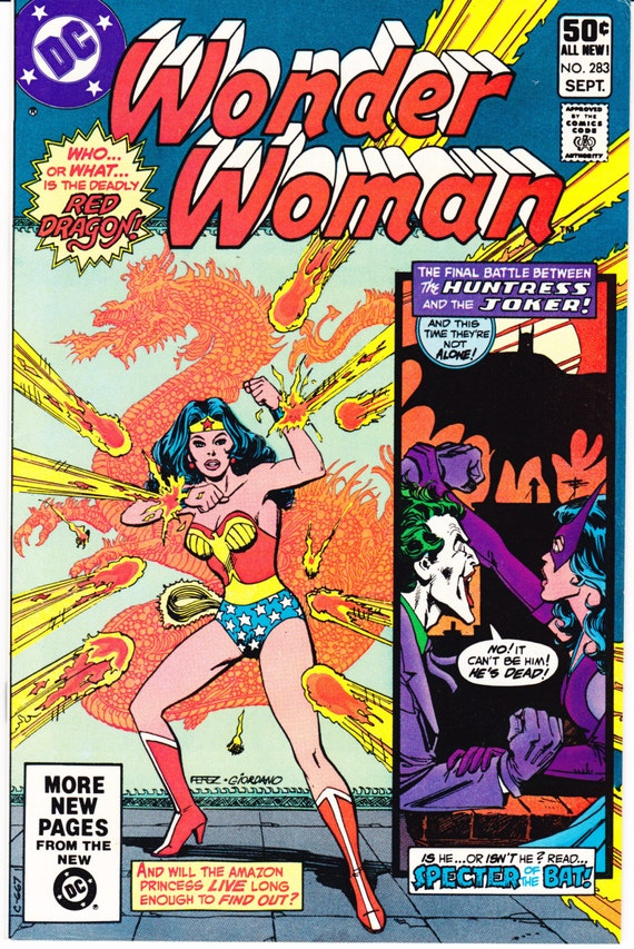 Wonder Woman Vol 1 283 The Joker Comic Vintage Book 1981 Dc Comics Vfnm 9 0