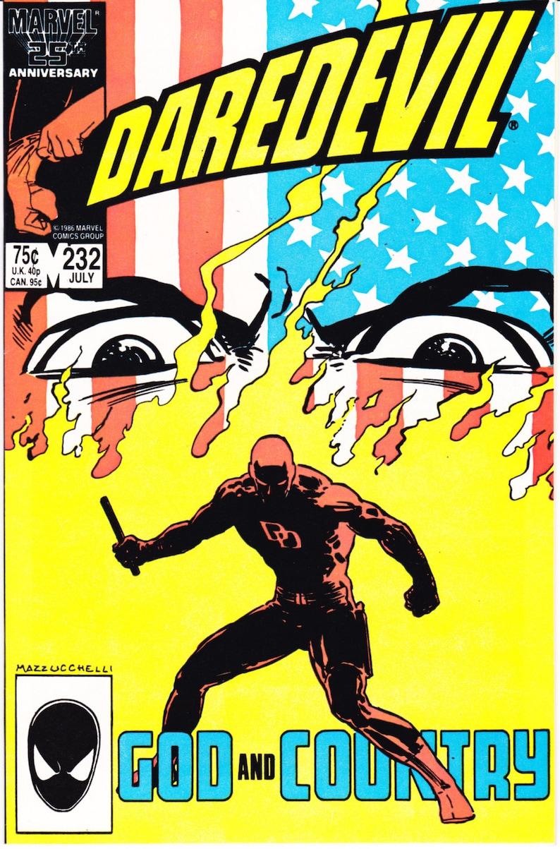 DAREDEVIL comic book lot: 228 232 Kingpin 1986 Marvel 228 Miller NM+