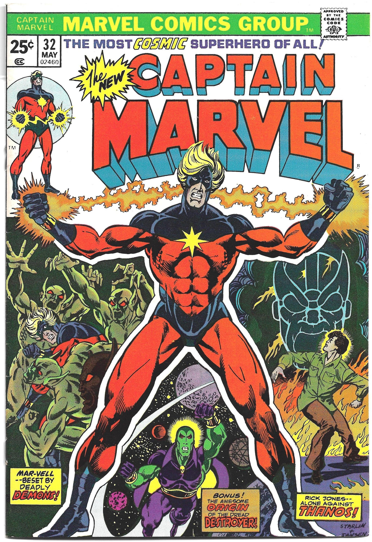 Captain Marvel 20, Thanos comic, Drax Origin book. 20 Marvel, VF+ 20.20