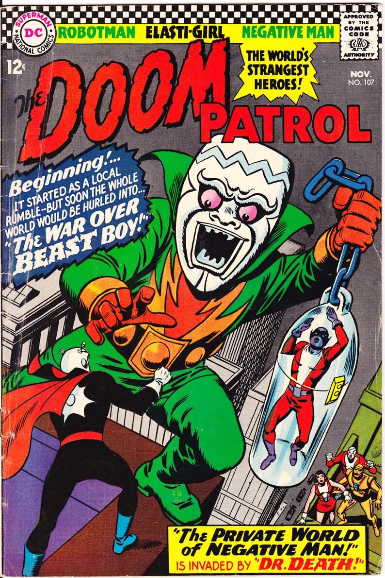 Doom Patrol 107 Comic Beast Boy Silver Age Book 1966 Dc Etsy
