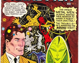 Metal Men 17, Marriage, Wedding, I married a robot comic, Esposito book, Andru art, Silver Age. Vintage DC Comics from 1966 in VF- (7.5)