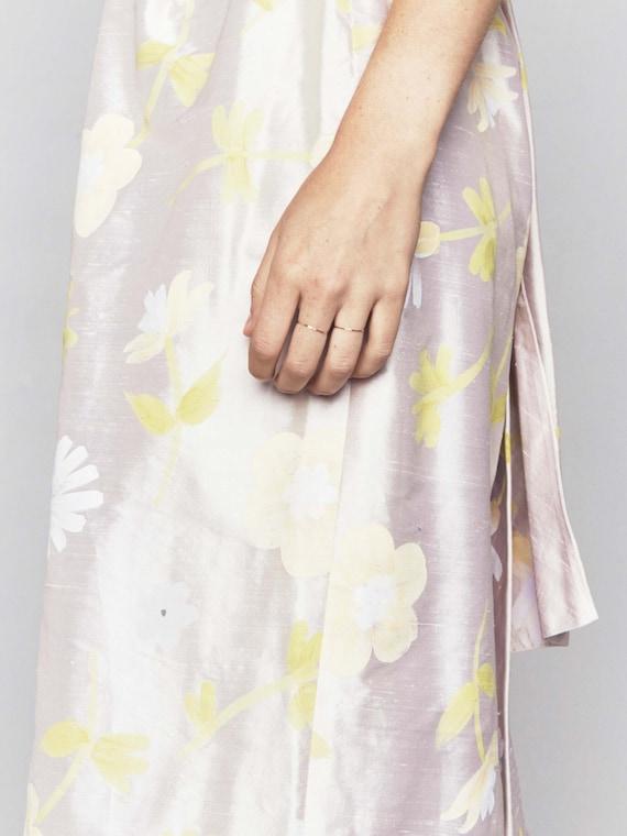 1990s Vintage Dupioni Silk Wedding Gown | Handpai… - image 3