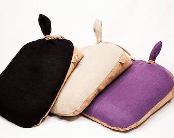 "Original Irish Meditation Cushion Hand Made in Ireland Organic Hemp Cork Buckwheat  ""Black"" ""Beige""&""Violet"""