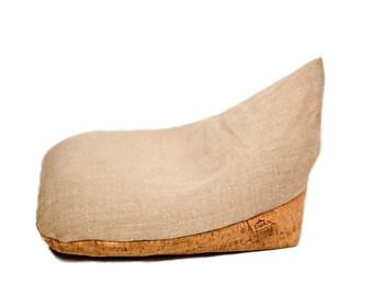 "Original Irish Meditation Cushion Organic Hemp Cork Buckwheat ""Beige"""