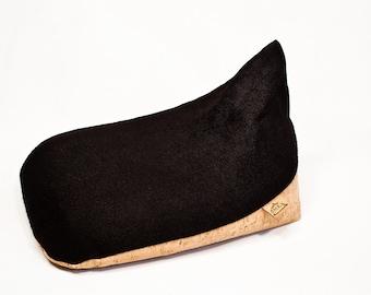 Original Irish Meditation Cushion Eco-friendly Organic Hemp Cork Leather & Buckwheat Hulls