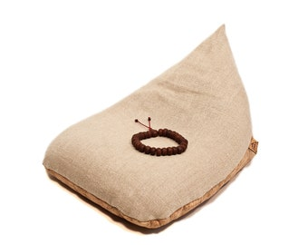 NEW COVER ONLY  Original Irish Meditation Cushion   Eco-friendly Organic Hemp & Cork Leather