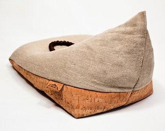Original Irish Meditation Cushion Organic Hemp Cork Buckwheat
