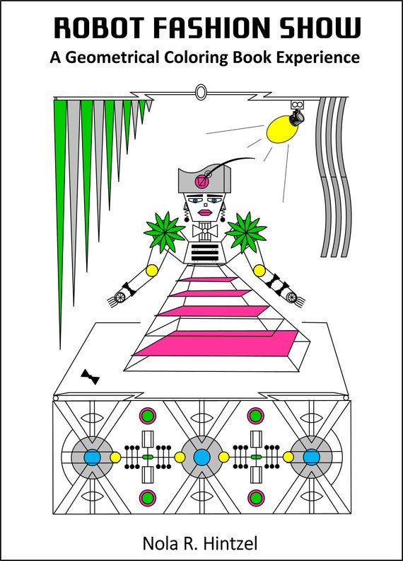 Robot Fashion Show Pdf Download Coloring Book Intergalactic Etsy