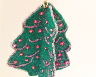 Christmas Ornaments, Felt Christmas Tree, Christmas Decoration, Felt Ornament, Christmas Decor, Felt Tree, Christmas Gift  CTO201