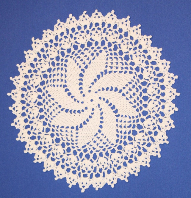Tapete de encaje grande tapete blanco tapetito de ganchillo | Etsy