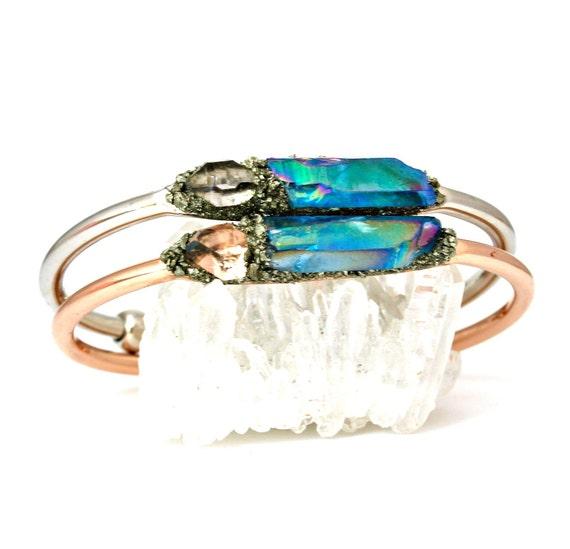 delicate bracelet Herkimer diamond bracelet herkimer bar bracelet crystal bracelet birthstone bar bracelet april birthstone bracelet