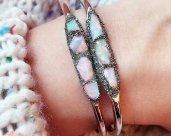 Raw Opal Jewelry, Gold Opal Jewelry, Raw Opal Bracelet, Australian Opal Jewelry, Inspirational Bracelet, Inspirational Jewelry