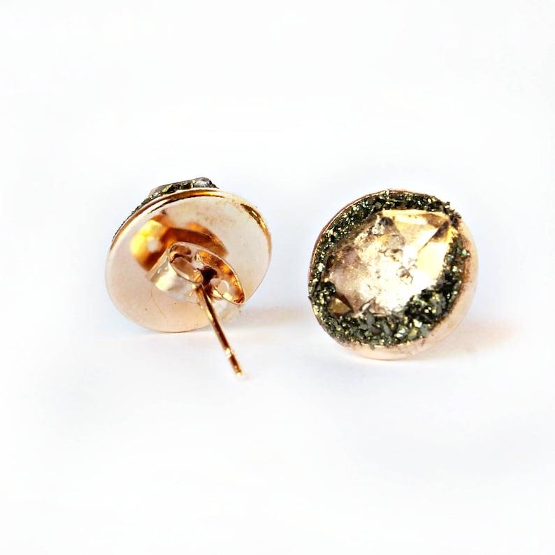 Herkimer Diamond Earrings  Herkimer Diamond Studs  Herkimer Earrings  Diamond Stud Earrings  Diamond Earrings  April Birthstone
