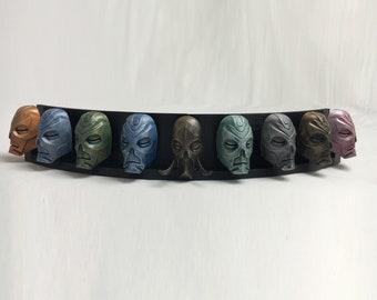 Skyrim  9 Dragon Priest Masks Display 3D Printed, Unofficial