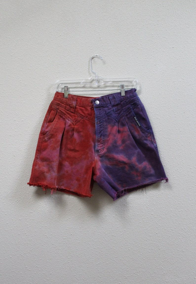 Tie dye cut off denim shorts size 32