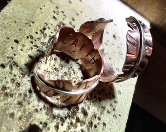 Copper Feather Ring