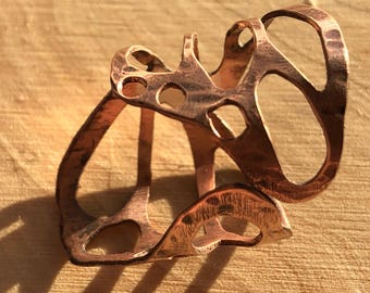 Copper Butterfly Wing Ring *adjustable