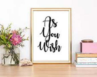 As You Wish INSTANT DIGITAL download from The Princess Bride