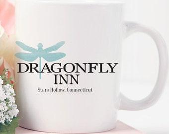 Gilmore Girls, Dragonfly Inn Mug, Lorelai Gilmore, Coffee Mug, Lukes Diner, Stars Hollow Mug, Gilmore Girls Mug,