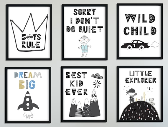 Nursery Print for Boys Adventure Nursery Wall Art Boys Rule | Etsy