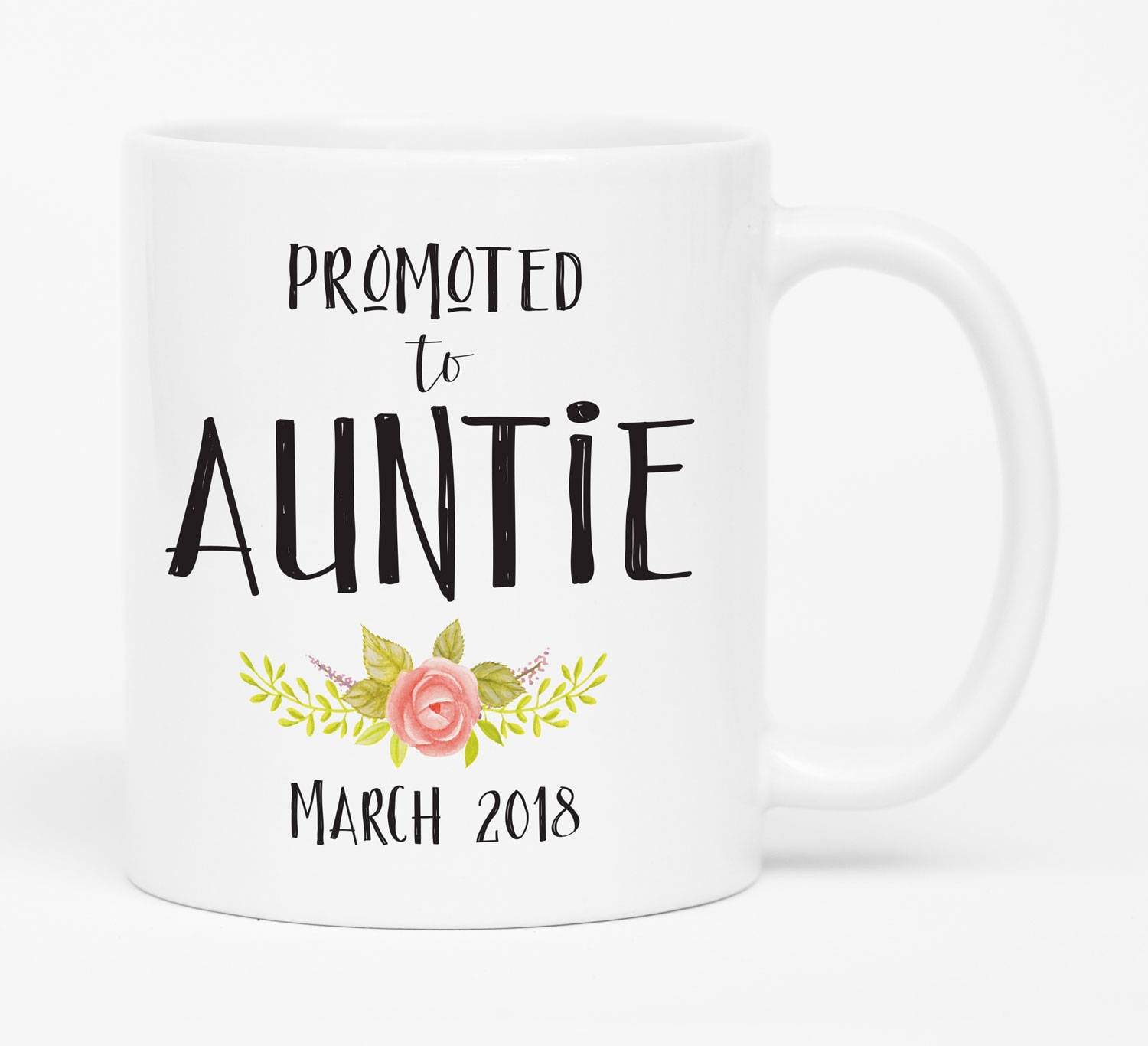 Promoted to Auntie Gift Pregnancy reveal to Aunt Baby | Etsy
