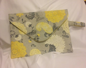 Floral Fold Over Clutch