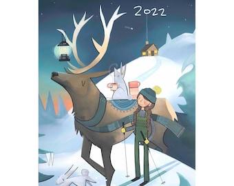 "PRESALE! 2022 Wall Art Calendar 18 x 12"" - Elk Lantern Cover"