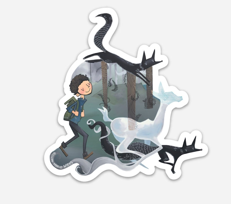 Sticker  Ghosts of wild things image 0