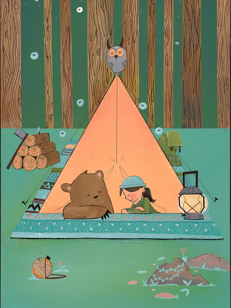 Fine art print  I will always share my tent with image 0