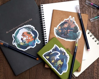 NEW! Eight Stickers - Variety Pack - one of each style