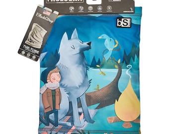 New! - Adult Tube - Neck Gaitor - Bluebird Wolf (Design 59)
