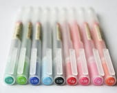 5 pcs Japan [Muji] MomA 0.38mm/0.5mm Gel INK PEN Black/Blue/Red/Green/Yellow Green/Sky Blue/ Orange/Pink/Sakura COLOUR