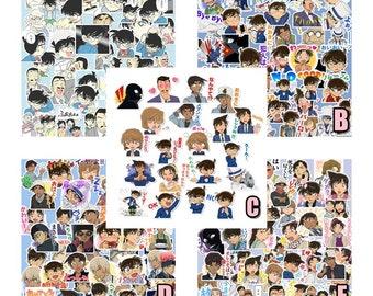 R1428 Detective Conan Kawaii Cute stickers flakes ed1f8448b48
