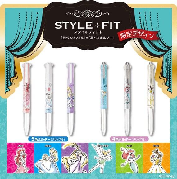10 Colors Refills Uni-Ball Style Fit Disney Mermaid  2 x 5 in 1 Barrel LB