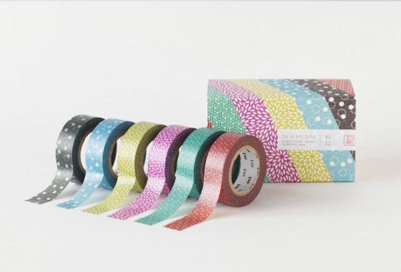 MT 2018SS deco midorinezu Washi Tape MT01D412-7 Wamon set masking tape planner accessories Made in Japan