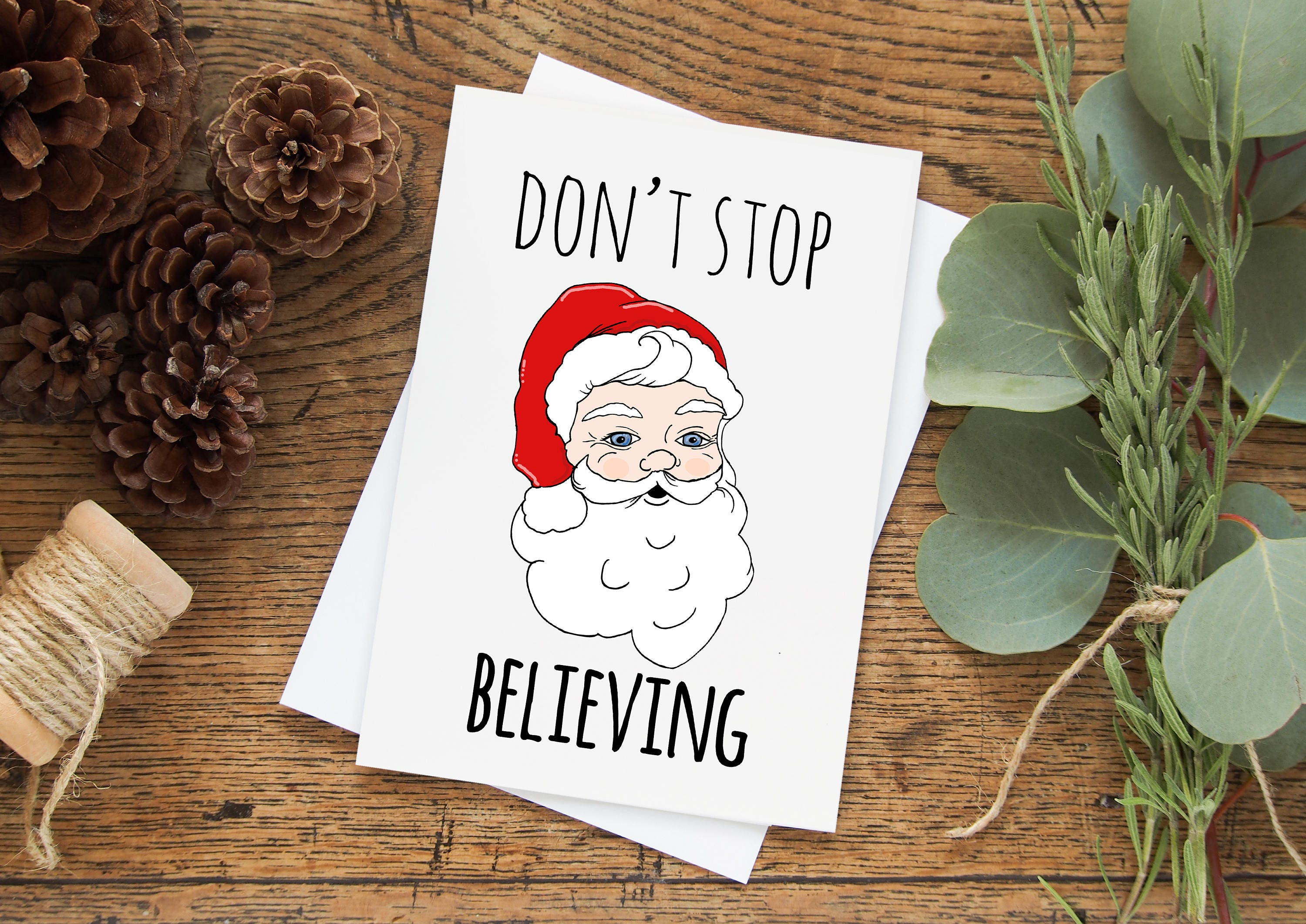 Don\'t Stop Believing Greeting Card. Buy 1 or a discounted | Etsy