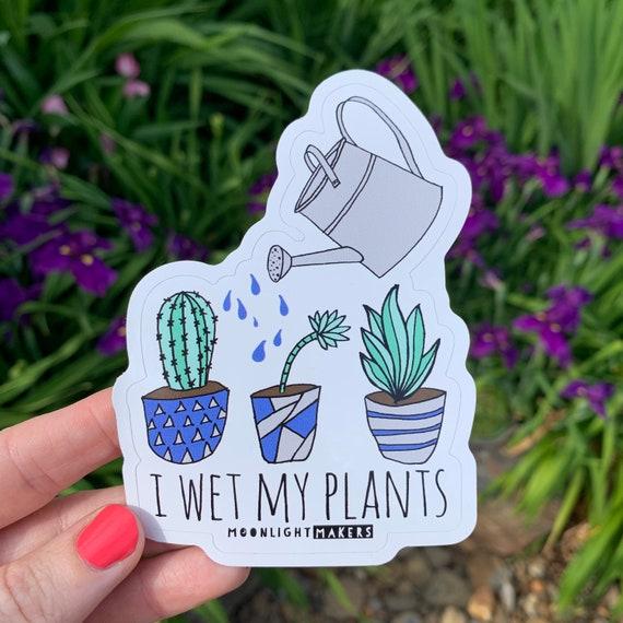 Bike Sticker North Carolina Car Sticker Weatherproof Vinyl I Wet My Plants Die Cut Bumper Sticker