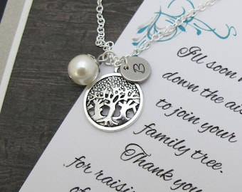 Mother of the Groom Gift From Bride, Thank You For Raising The Man Of My Dreams, Family Tree Keepsake  Mother Of Groom Gift