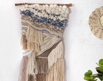 By The Seashore, Woven Wall Hanging, Tapestry, Weaving