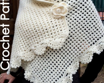 Crochet Shawl Wrap - PDF Pattern