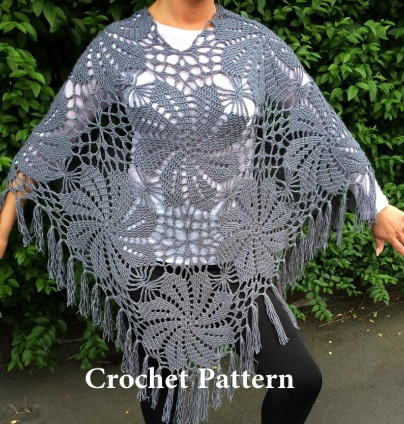 Crochet Pattern Summer Poncho Etsy