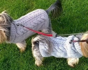 Knitting Pattern -Cabled Fall Dog Sweater