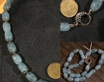 Necklace in Aquamarine