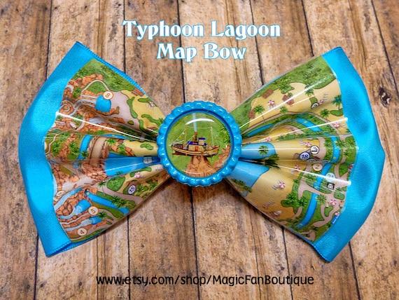 Items similar to Disney Typhoon Lagoon Map Disney Bow-Walt Disney ...
