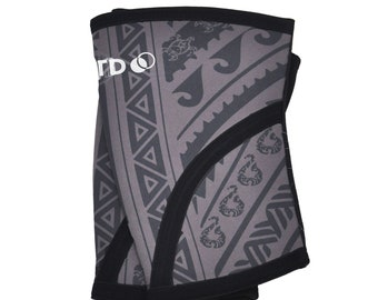 Maui Tribal | Women's CrossFit Knee Sleeves | Crossfit Compression Knee Sleeves | Fitness Weightlifting Sleeves | Compression Knee Sleeve