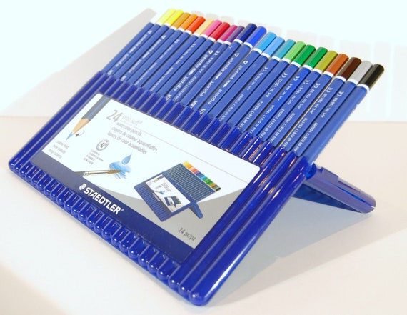 set 156SB24A6 Staedtler Ergo Soft Watercolor Aquarell Pencils 24pc