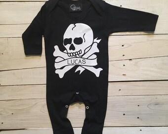490cd07ac Skull baby romper