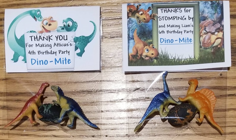 Dino-Mite Party Favors Dino-Mite Birthday Party Dinosaur Birthday Party Birthday Party Dinosaur Theme Dinosaur with Egg Party Favor Bags